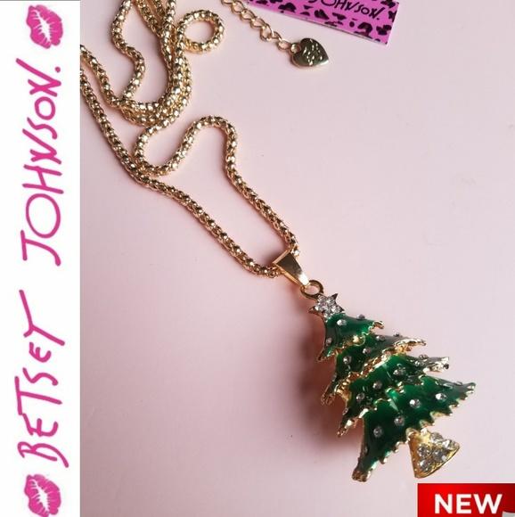 Betsey johnson jewelry big sale christmas necklace poshmark betsey johnson christmas necklace aloadofball Image collections